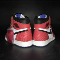 1462e2b85f68 555088-013 Quality Inspection Air Jordan 1 Shadow Spiderman White Bred  Color 3m Underply Visible