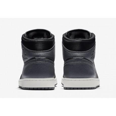 Air Jordan 1 MID Black Black Dark Grey,Air Jordan 1 Grey MID,554724 041 Air Jordan 1 Mid Dark Grey