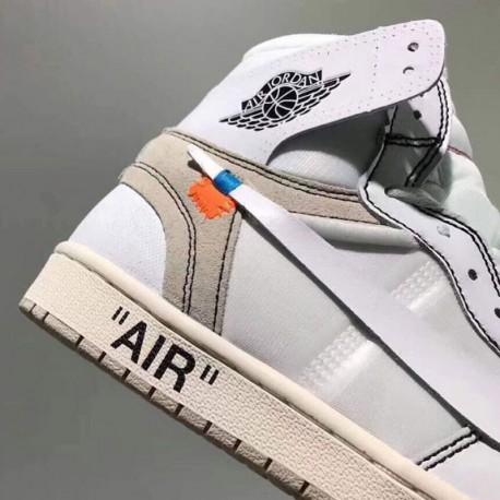 Aq0818-100 OFF-WHITE X Air Jordan 1 Whit
