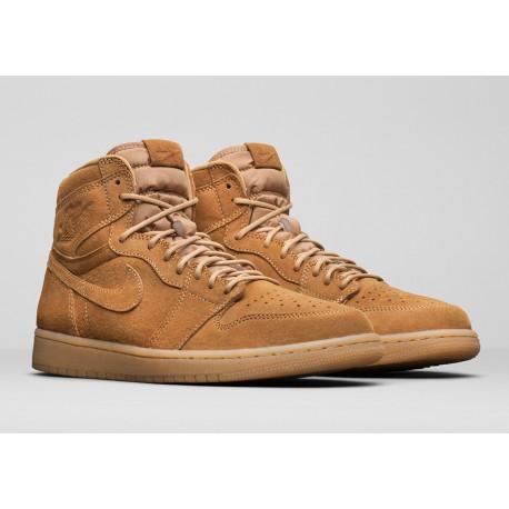 85d45cd27aa Air Jordan 1 Wheat On Feet,Air Jordan High 1,Air Jordan 1 Retor High ...