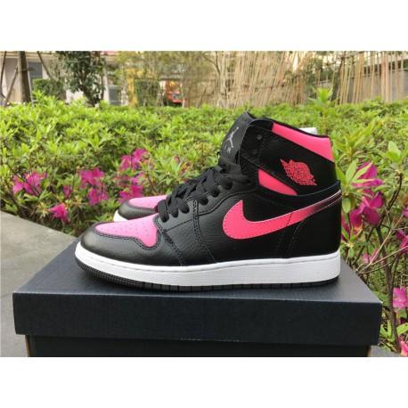 332148-019 Air Jordan 1 GS Vivid Pink Aj1 Black Powde