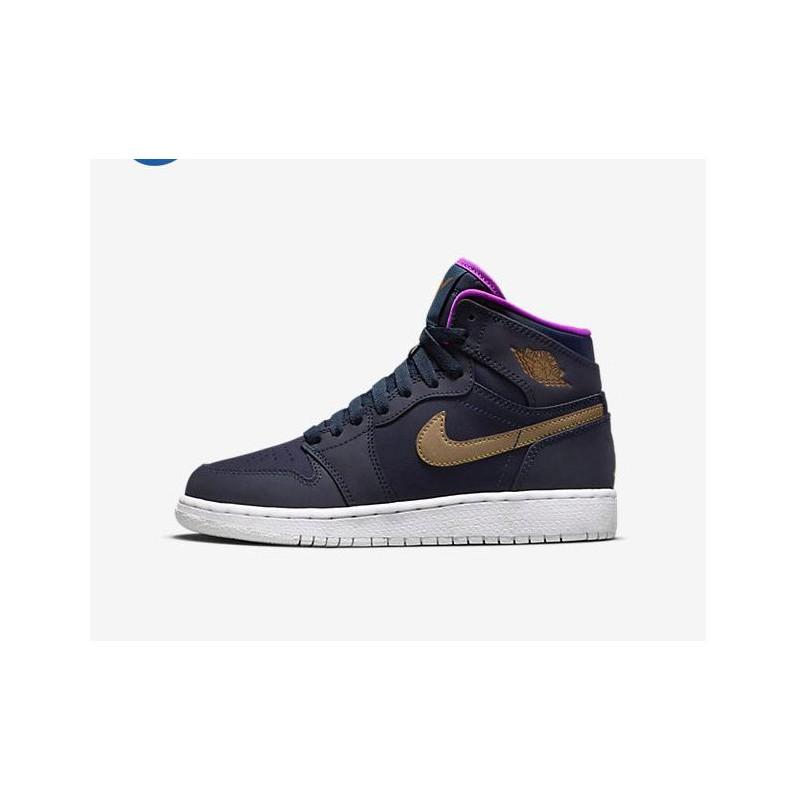 836404c7d9cff2 Nike Air Jordan 1 HIGH GS Aj1 Purple Powder Maya Moore 332148-42