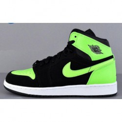 Nike Air Jordan 1 Retro High GS Aj1 Black Green Women's Models 332148-00