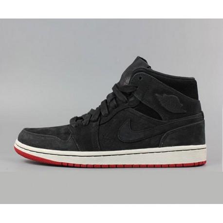 Nike air jordan 1 mid aj1 bred zhongbang 629151-00