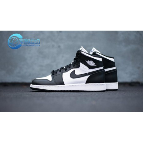 Nike Air Jordan 1 Retro High OG Aj1 Black And White 9 Hole 555088-01