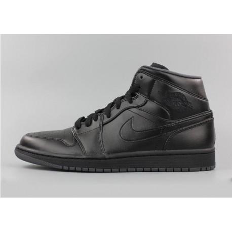 Nike air jordan 1 mid aj1 black warrior leather upper 554724-02