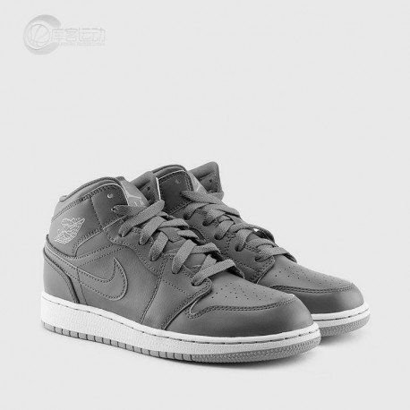 Air Jordan 1 Mid GS Leisure Shoe Women's Aj1 Cool Grey Women's 554725-03