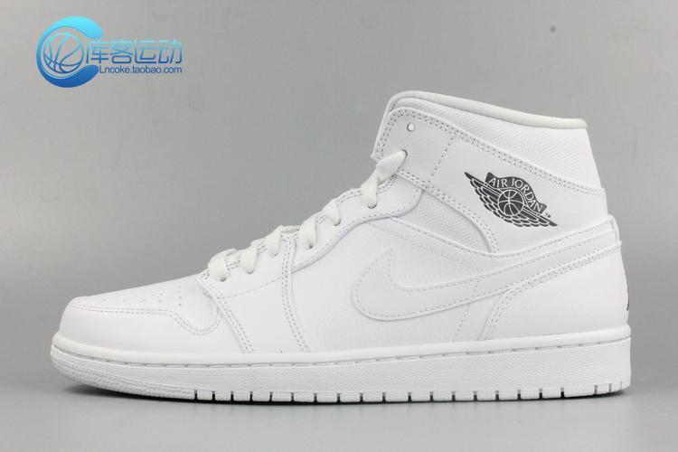 Jordan Aj1 MID Black Gym Red White,Nike