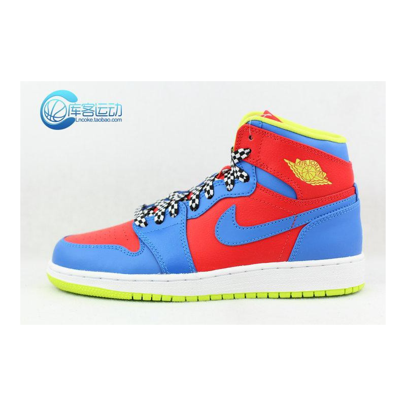 bbfe3e087a6cd5 Nike Air Jordan 1 RETRO Bg Aj1 Racing Women s Models 705300-61