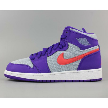 newest 81826 ffe01 Nike Air Jordan Retro 1 Purple,Air Jordan 1 Grey And Purple,Nike Air Jordan  1 Retro AJ1 Purple Grey 332148-405