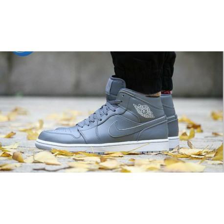 Nike air jordan 1 mid aj1 cool gray men 554724-03