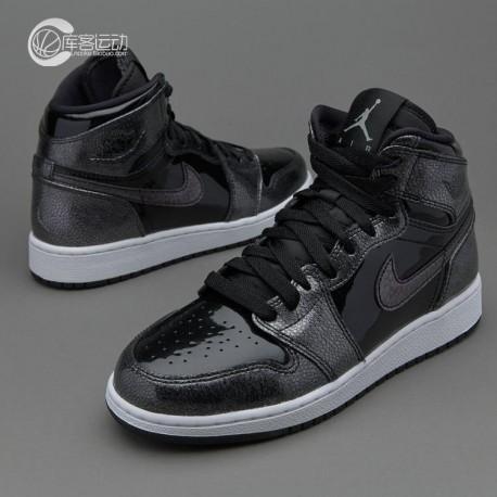 Air Jordan Retro 1 Patent Black Gold,Air Jordan 1 Retro High Patent,Air  Jordan 1 Retro AJ1 large slam basket Black Patent Leath