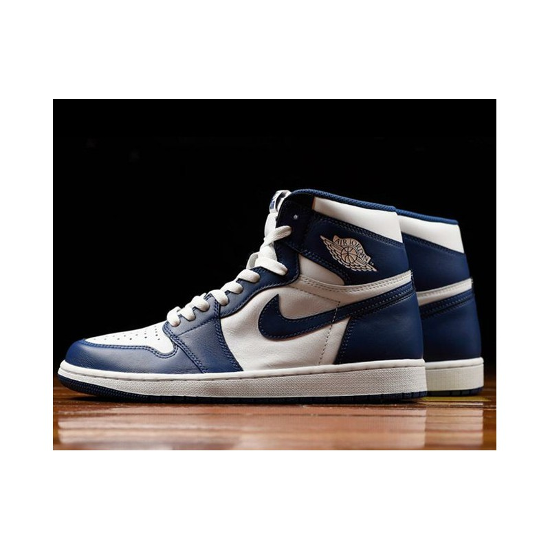 1bb300d30fbe1b Air Jordan 1 Retro High OG Aj1 Storm Blue 555088-12