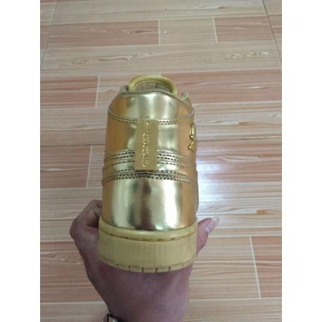 25d9f6a7dd970f New Sale Air jordan 1 local gold liquid gold private bespok