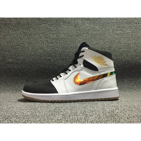 meilleures baskets ecbc4 d1afb Nike Air Jordan 1 Nouveau,Air Jordan 1 Nouveau Black,Air Jordan 1 NIKE Air  Jordan 1 Colorful Swoosh Nouveau AJ1 Black and White