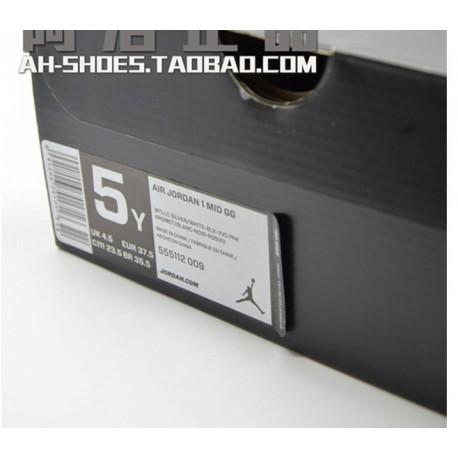 Air jordan 1 mid aj1 fashion high skate shoes leisure shoe black powder 36-3