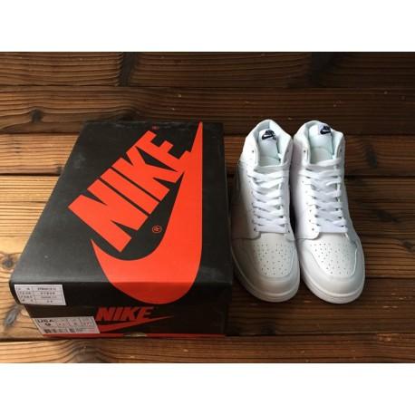 354dfd02110 New Sale Air Jordan 1 Whole White New Retro Air Jordan 1 MID Aj1 Whole  White 555088-