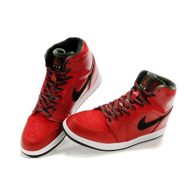 all red and black jordans
