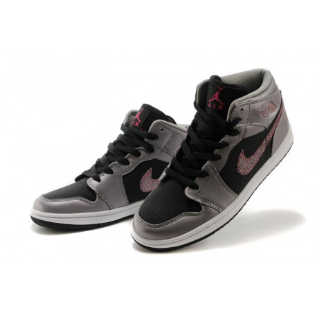 New Sale Air Jordan 1 High Grey Black Violet 36 .5 37.5 38 .5 3 0120cca7d