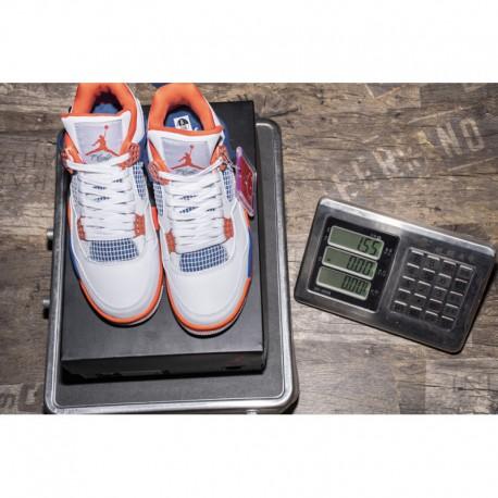 new styles f12a8 fbfa5 New Sale White blue orange knicks jordan 4 air jordan 4 retro knicks  308497-17