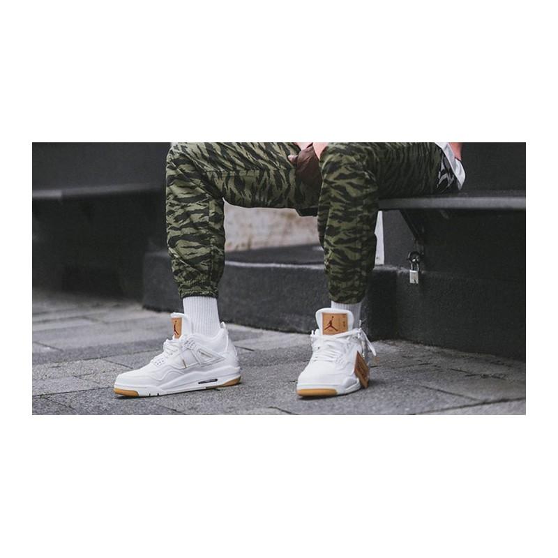 vendita di liquidazione vendita online morbido e leggero Air Jordan 4 Levis White,Levi's X Air Jordan 4 White Denim,White ...
