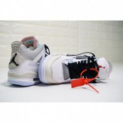 Air Jordan 4 White Grey Black,Mens