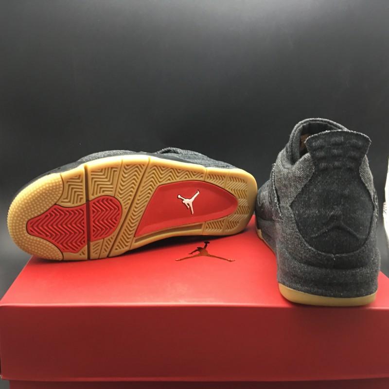 5a03ead659e ... Ao2571-001 Jordan 4 Reeves Levi S X Air Jordan 4 Black Tannin Fabric  Original Premium ...