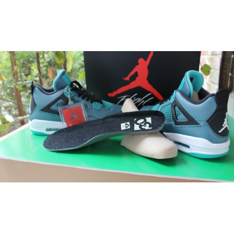 new concept f342c ac5f3 Air Jordan 4 White And Green,Air Jordan Retro 4 Green Glow,Air Jordan 4  Lake Aqua Green Ultimate Edition