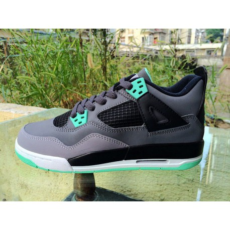 huge discount f7d10 ed180 New Sale Air Jordan 4 Aj4 Grey Green, GS Air Jordan 4 Aj4 Mint Female  408452-