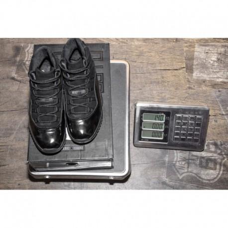 Black suede aj11 premium upper true carbon air jordan 11 cap and gown 378037-00