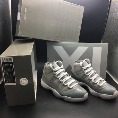 378037-001 jordan 11 cool grey nike air jordan 11 retro cool grey original leather upper true carbo