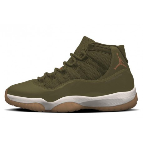 378037-016 air jordan 11 neutral olive women