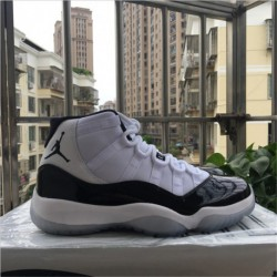 378037-107 Tiger Pounce Aj11, White Black Quality Inspection Original True Carbon Fibe