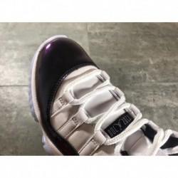 528895-153 jordan 11 aj11 low concord black and white chameleon original leather upper true carbo