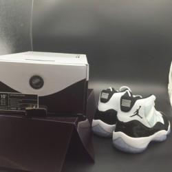 378037-107 aj11, white black, super original true carbon fibe