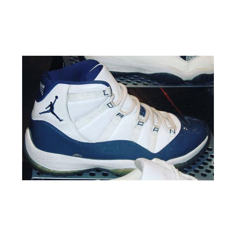 Air Jordan 11 Retro White Midnight Navy University Blue Air Jordan