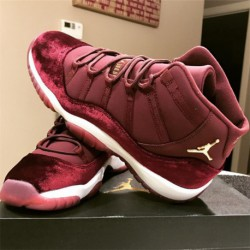 Air Jordan 11 Aj11 Velvet Heiress GS Red Velvet 852625-65