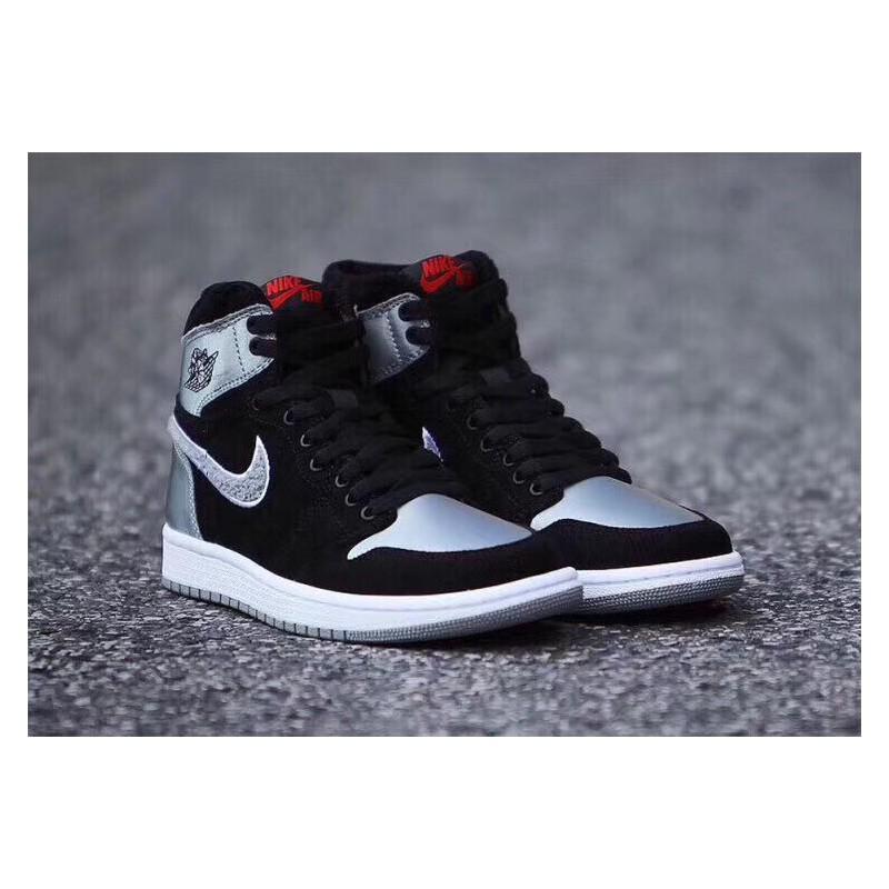 29ca0071ca293f ... Aj5991-062 Air Jordan 1 Aleali May Black Silver Grey Black Embroidery  Double Hook Velvet ...