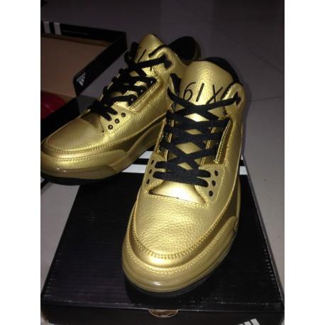 9fffcf3500d9 New Sale Air jordan 3 aj3 local gold men