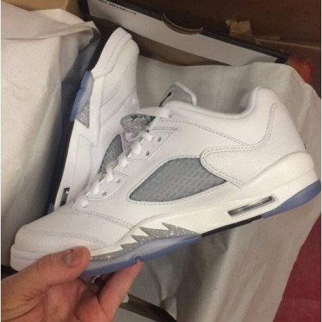 6ff0d78da286b4 New Sale Air jordan 5 retro aj5 low silver air jordan 5 womens 819172-12