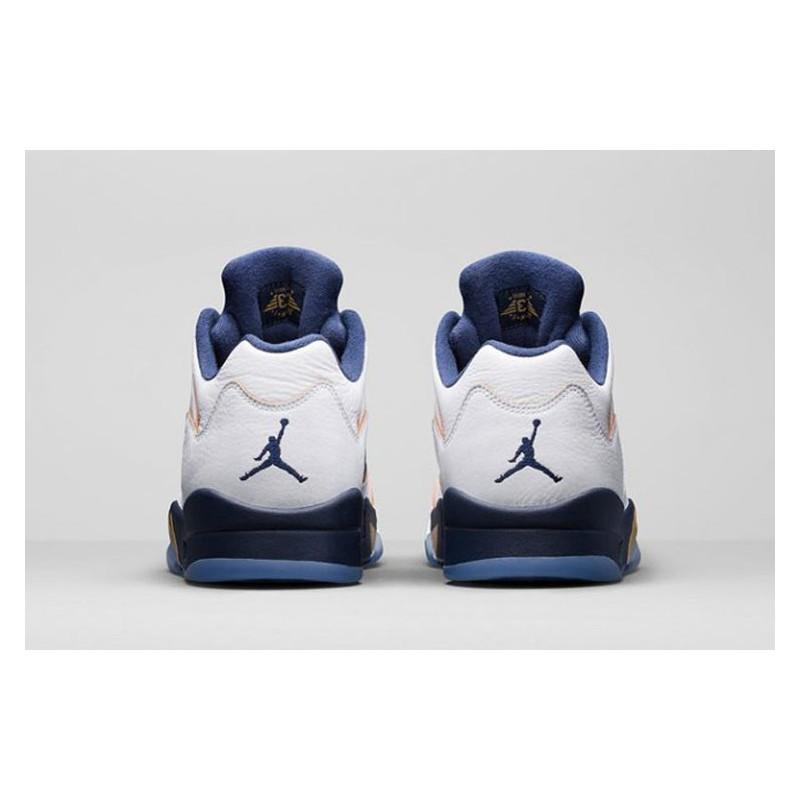 b69328bc4276 ... Pre   air jordan 5 low aj5 low white navy blue 819171-13