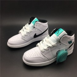 Air-Jordan-1-Lime-Green-Air-Jordan-1-Clay-Green-554725-122-Air-Jordan-1-Mid-AJ1-White-Green-Mint-Green-Womens-BASKETBALL-SHOES