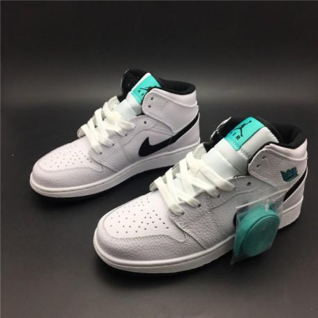 online retailer 37c75 2e232 New Sale 554725-122 air jordan 1 mid aj1 white green mint green womens  basketball-shoes