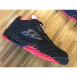 e65f651fbddf Nike-Air-Jordan-5-Low-Alternate-Black-Red-