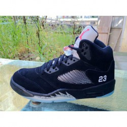 first rate 3d0e8 2bddc Air jordan 5 factory aj5 black silver air jordan 5 hei yin 440888-01