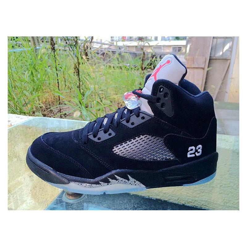Air Jordan Retro 5 Black Silver,Air