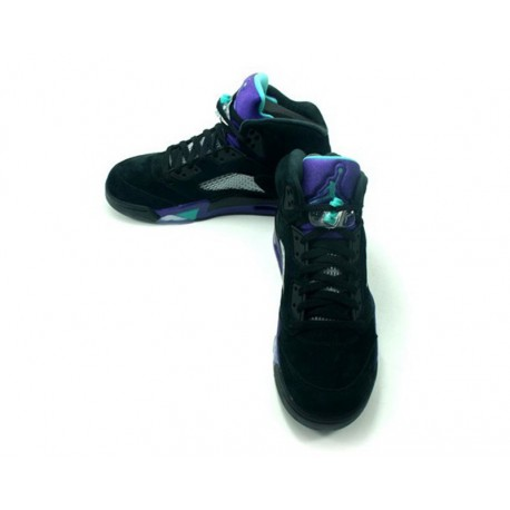 6d201ed4f148c8 New Sale Air jordan 5 aj5 black grape suede mens air jordan 5 retro grape  aj5 136027-