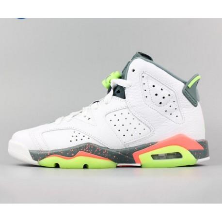 03f65c18fb4e New Sale Jordan 6 retro bg aj6 air jordan 6 mango green womens 384665-11