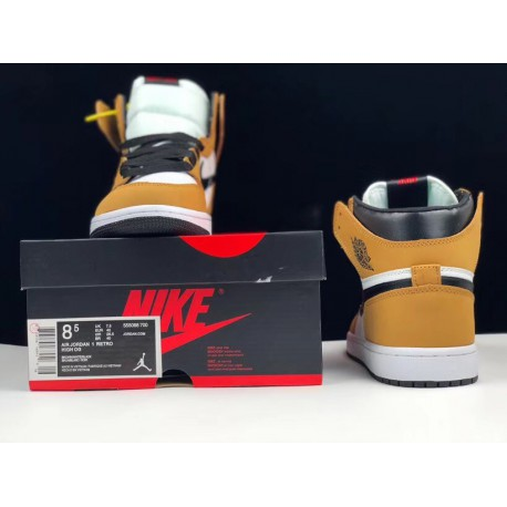 details for low cost discount sale Nike Air Jordan 1 Black Toe For Sale,Air Jordan Retro 1 Black Toe For  Sale,555088-700 Original Rookie Black Brown Toe Yellow Su