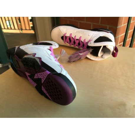 best sneakers cbd0d ab9b6 New Sale Air Jordan 7 White Black Powder GS Fuchsia Glow 442960-12